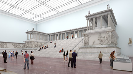 Rundgang antike architekturen masterplan museumsinsel for Architektur master berlin